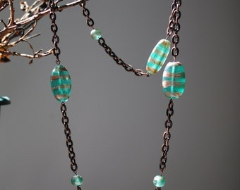 Green and copper necklace