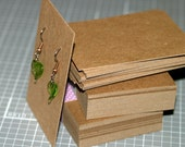 """Earring Cards (25) ... 2.5"""" x 3.5"""" Medium Weight Chipboard Recycled Cardstock Eco Friendly Kraft Seller Supplies Display Cards Sturdy Cards"""