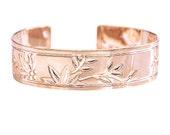 Rose gold bracelet, Zen, Rose Gold cuff, cuff bracelet, Rose gold, rose gold bangle, floral bracelet, orchids, rose gold jewelry, modern