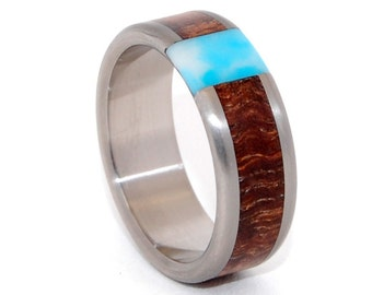 wedding rings, titanium rings, wood rings, mens rings, Titanium Wedding Bands, Eco-Friendly Rings, Wedding Rings - PASSING CLOUDS
