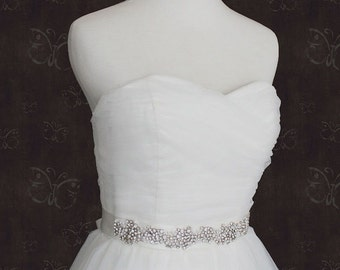 Crystal Rhinestone Jeweled Bridal Sash