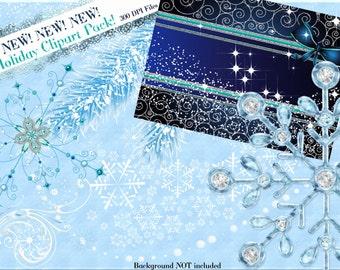 Snow Clip Art, Winter Clipart, Winter Wonderland Clip Art, Christmas clipart