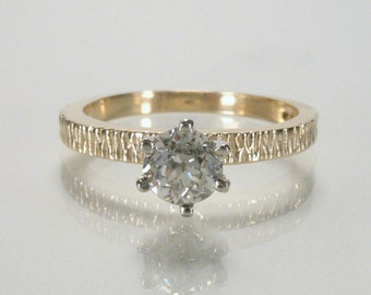 Vintage Old European Cut Diamond Engagement Ring - Vintage Ring in New Condition - 0.47 Carat Solitaire - Appraisal Included