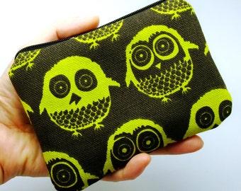 Owls - Zipper pouch / coin purse / card bag (padded) (ZS-10)