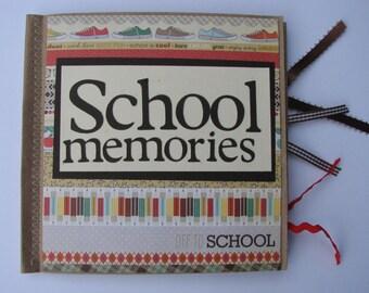 School Memories Paperbag Scrapbook