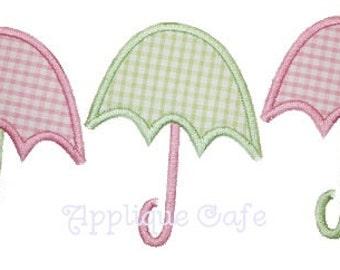 089 Umbrellas Machine Embroidery Applique Design