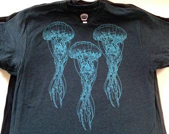 Jellyfish  / Black Aqua / Men's T