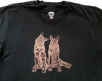 Dog Pinecones  / Black / Men's T-shirt / Small