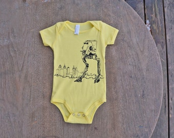 Star Wars AT-ST Walker takes on Philly,  American Apparel Lemon Yellow Baby Onesie