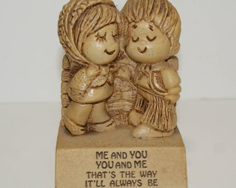Me and You Always - 1979 Paula - Vintage Figurine With Saying