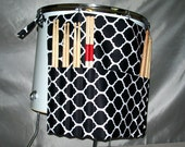 Roll It Ups Drumstick Bag in Tribal Black and White - Drum Bag Drumstick Stick Bag for Drummers on Drum Set and Percussion