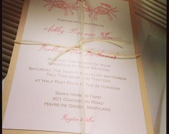 Crab Love Wedding Invitation - 30 Suites