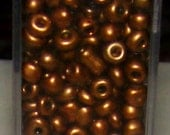 SALE Tube of Brown Glass  Seed Beads