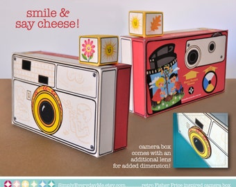 Camera Box - Birthday party, favor box, gift card box, gift box - Fisher Price Inspired - Instant Download DIY Printable PDF Kit