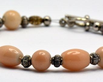 Sale / On Sale / Clearance Jewelry / Jewelry on Sale / Marked Down / Latte Lustre Glass Beaded Bracelet - BR00168