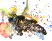 FireFly Serenity Print From Original Watercolor Painting - 8 X 10 in. Print FireFly Movie Poster Print