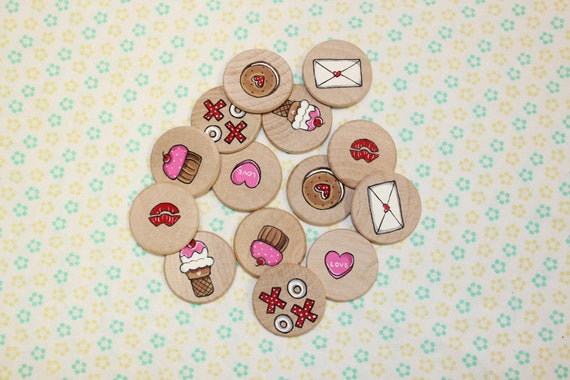 Memory Match Game - Valentine's Day Sweet Treats (Ready To Ship)