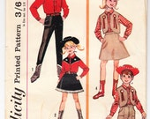 Vintage 1965 Simplicity 6200 UNCUT Sewing Pattern Kids' Western Costume Size 6