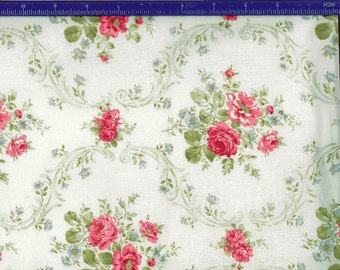 Yuwa Roses on light cream AF816824A Cotton Fabric