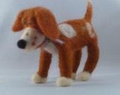OOAK Needle felted dog