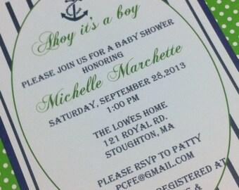 Anchor boys baby shower / birth announcement