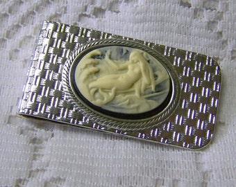 MERMAID Money Clip - Brushed Silver - Pirates - Men's Wallet -Silver Money Clip - Basketweave design money clip
