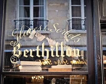Paris Photography, Black and Gold Paris Print, Fine Art Travel Photography, Paris Photo Home Decor - Glaces and Sorbets