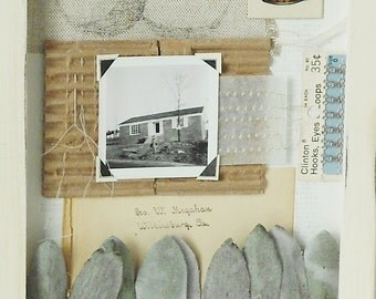 House Assemblage / Original Mixed Media