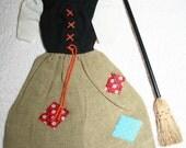 Vintage Barbie Cinderella Poor Girl Dress and Broom - 1960's - very good vintage condition