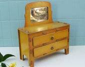 Vintage Doll Dresser Play Furniture Toy