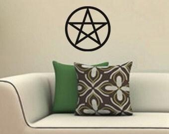 Pentagram Vinyl Decal Pagan Wiccan WALL ART Pentacle