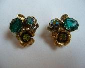Vintage 60's Rhinestone Earrings