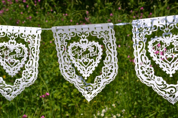 Just married laser cut banner