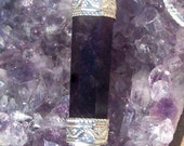 PROPHECY STONE - Amethyst necklace with quartz crystal and Sterling silver, Amethyst necklace, Sterling silver