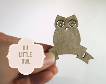 Laser Cut Owl Wood Banner - Cut out Blanks