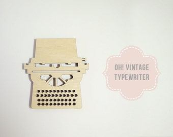 Laser Cut Typewriter Wood Shape