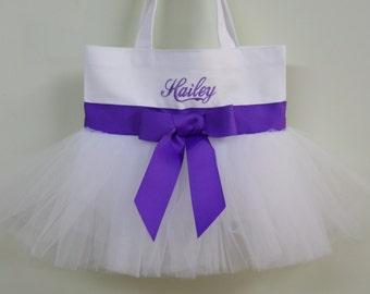 Dance Bag, Flower girl tote bag, Wedding tote bag, ballet bag,  Personalized tote bag, tote bag, Tutu Tote Bag, dance bags TB888 BP