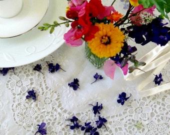 Blue Larkspur, Dried Flowers, Wedding Confetti, Wedding Decor, Aisle decor, Purple Flowers, Tossing, Decorations, Table Decor, 11 US cups