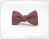 The Barber - Red Striped Freestyle Bow Tie