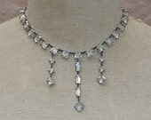 1900s Bezel Set Sterling Silver Necklace