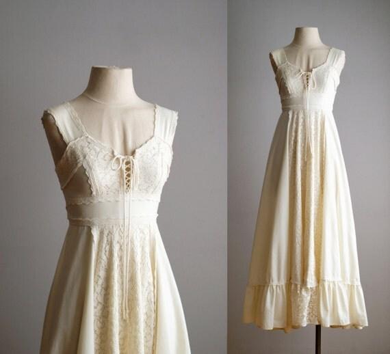70s Dress 70s Gunne Sax Wedding Dress