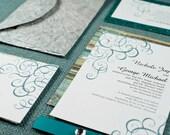 DIY- Flourish, Printable Wedding Invitation Suite