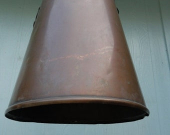Vintage Light Copper Pendant Hanging Light Shade Metal Industrial Studio
