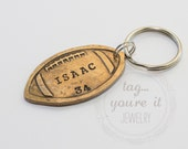 Football Keychain Custom Personalized Keyring, for Players, Team, Coach