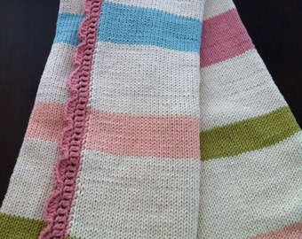 Baby Blanket Knitted Cotton (crib size) - Baby Candy
