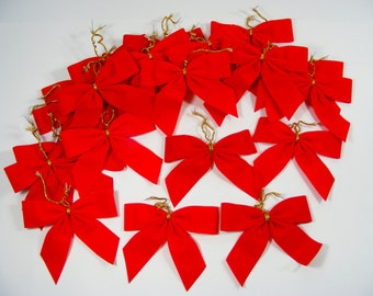 Red Bows Christmas Holiday Decorations  100 bows