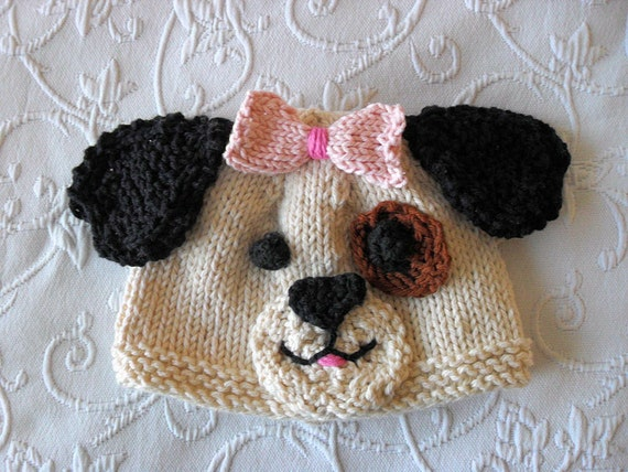 Puppy Dog Hat Knitting Pattern : Baby Hats Knitting Knit Baby Hat Knitted Puppy by ...
