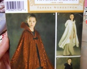 Vintage closet 1920s Simplicity Sewing pattern Dramatic Cape OS