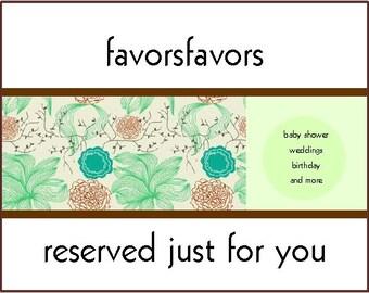 30 tea favors