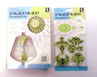 Inkadinkado Stamping Gear Intro Kit and extra set of stamps a perfect addition to any craftroom stamping project or home decor project